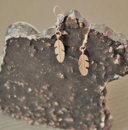 Женские серьги листики новый