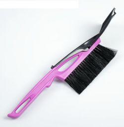 Scraper brush + lock defroster