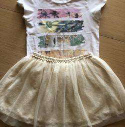 Liu Jo T-shirt and Zara Skirt