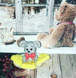 New Year's mice. Handmade soap
