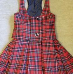 Σχολική στολή (γιλέκο και φούστα)