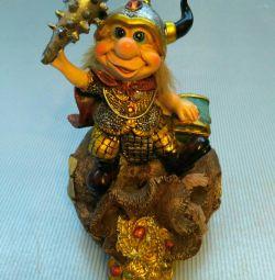 Viking figurine piggy bank.