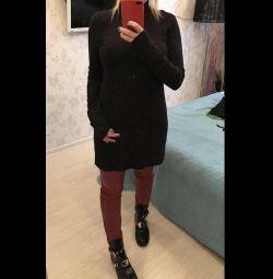 Νέο ιταλικό πλεκτό φόρεμα 44-46 (M)