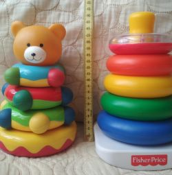 Pyramid fisher price and bear.
