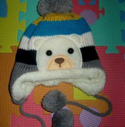 Тепла шапка від 8мес.і старше