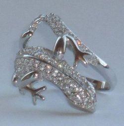 Ασημένιο δαχτυλίδι 925 με κύβους ζιρκονίας