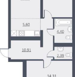 Apartament, 2 camere, 61,1 m²