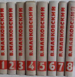 V. Mayakovsky - Lucrări colectate în 8 volume.