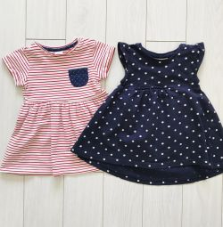 Dresses for the girl, H & M and Next, size 74