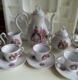 Serviciu de cafea porcelan fena porcellan