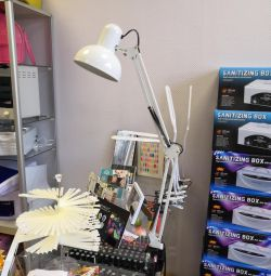 Table lamp for manicure with a ceiling