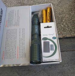 Powerful police flashlight