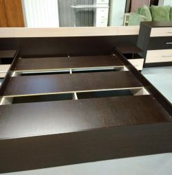 Bed + chest of drawers + two tables