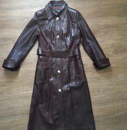 Cloak, genuine leather
