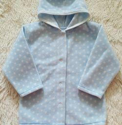 Το σακάκι είναι fleece. Μέγεθος 92-98.