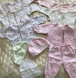Baby's undershirts (package) from 0-2 months