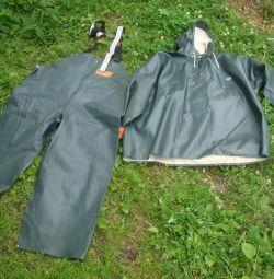 rubberized fishing suit