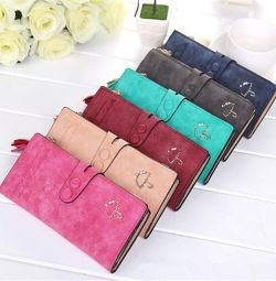 Branded women's wallet. New