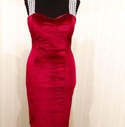 Бархатное платье D&G