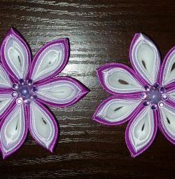 Zakolochki in the technique of Kanzashi