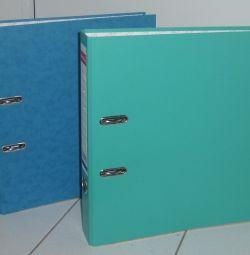 Recorder folder for storing documents