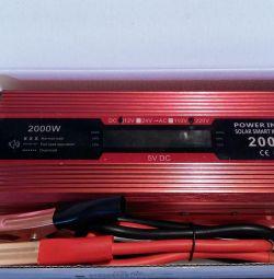 Инвертор преобразователь напряжения 12-220V 2000W