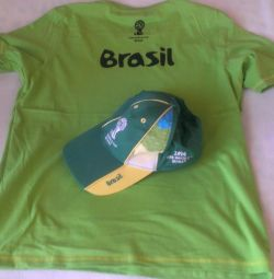 Cap and T-shirt. FM 2014 Brazil Brazil