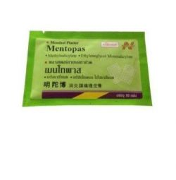 Знеболюючий пластир Mentopas Таїланд