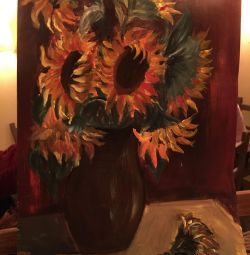 Painting sunflowers oil