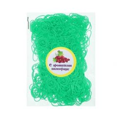 A set of elastic bands for hair, 200 pcs., Grape aroma