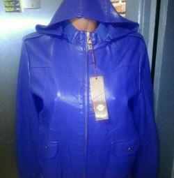 Jachetă din piele ecologică nouă