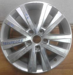 Cast alloy wheel Volkswagen Transporter T6 R17 (15>) oem 7e0601025 (scratches) (ckl-3)