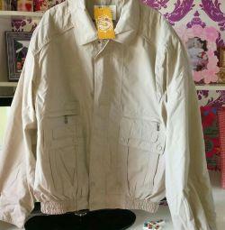 New windbreaker jacket on a large man