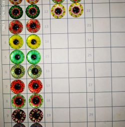 Cabochon glass (eyes) 14 mm
