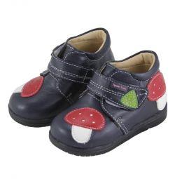 Μοντέρνα παπούτσια nat. δερμάτινη σόλα 16,3-16,8cm