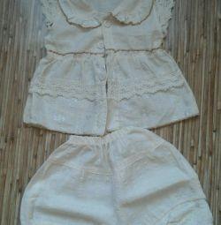 Suit for baby beige