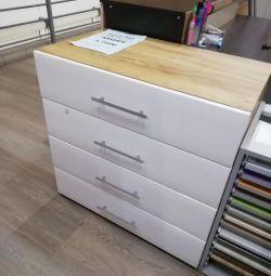 Dresser MDF beyaz parlak