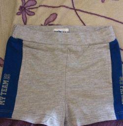 New shorts on a boy