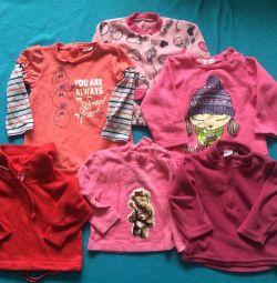 Μπλούζες για ένα κορίτσι από 6 μήνες