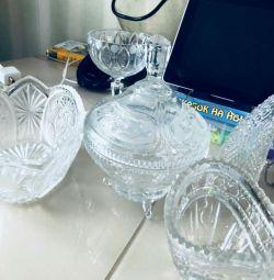 Vases for sale in crystal