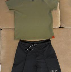 T-shirt and shorts Japan sports.