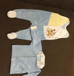 Suit (p / overalls-sliders and blouse)