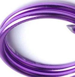Χρώμα d 1 mm. λιλά τιμόνι