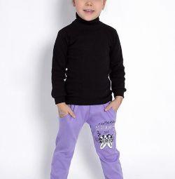 Παντελόνια για το κορίτσι, 100% βαμβάκι, Ρωσία