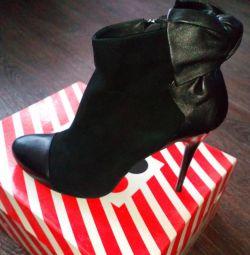 Ботинки новые кожа+замша