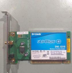 D-Link AirPlusG DWL-G510 wireless PCI adapter.