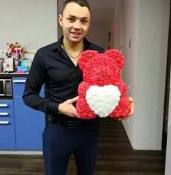Bear from 3D roses