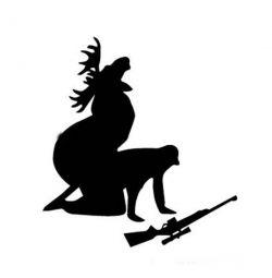 Наклейка на машину охотника )))