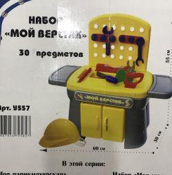 Set of toys workbench