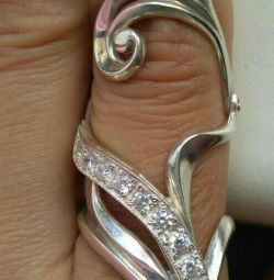 Yeni Yakut Gümüş 925 Yüzük